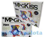 Építőjáték - MagKiss 24 db-os mágneses építőjáték