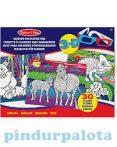 Kifestők - Színezők - 3D varázslatos színezőkönyv, állatos, Melissa & Doug