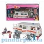 Járművek - Játékautók - Masha és a medve mentőautó farkasokkal