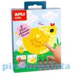 Kreatív hobby készletek - Apli Kids - Mozaiktechnika farmállatok