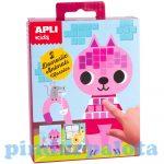 Kreatív hobby készletek - Apli Kids - Mozaiktechnika háziállatok