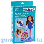 Kreativitás és szem-kéz koordináció - Gyurmaruha készítő szett, barna hajú, Apli Kids