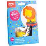 Kreatív hobby készletek - Apli Kids - Cirkuszi oroszlán figura készítő