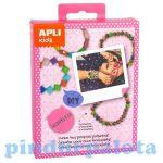 Kreatív hobby - Készletek - Apli Kids - Karkötő készítő élénk színű