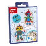 Kreatív hobby készletek - Apli Kids - Robot kifestő figura
