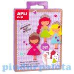 Kreatív hobby készletek - Apli Kids - Öltöztető hercegnők