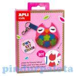 Kreatív hobby készletek - Apli Kids - Bagoly kulcstartó varró készlet