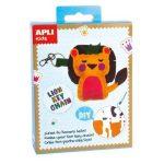 Kreatív hobby készletek - Apli Kids - Oroszlán kulcstartó varró készlet