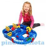 Vízi játékok - Játék zsilipes asztali hajópálya vizi játék készlet