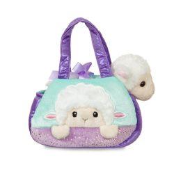 Plüssállatok - Plüssfigurák - Plüss bárány táskában 20 cm
