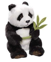 Plüss játékok - Macik . Plüss panda bambusszal