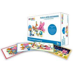 Gyerek Puzzle - Kirakósok - Pocoyo puzzle kicsiknek 4 különböző képpel