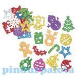 Kreatív Hobby - Készletek - Karácsonyi glitteres habszivacs matricák