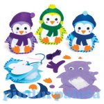 Kreatív hobby készletek - Pingvines díszpárna készítő szett