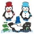 Kreatív Hobby készletek - Baker Ross Felhúzható pingvin készítő szett