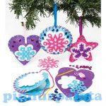 Kreatív Hobby készletek - Hópehely varró dekorszett