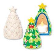 Kreatív hobby készletek - Karácsonyfa mécsestartó kerámiából Baker Ross