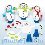 Kreatív Hobby - Készletek - Baker Ross Felhúzható hóemberkészítő szett