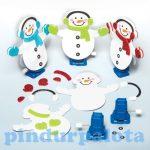 Kreatív Hobby készletek - Baker Ross Felhúzható hóemberkészítő szett