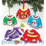 Kreatív hobby készletek - Baker Ross - Karácsonyi pulóveres varró dekorszett