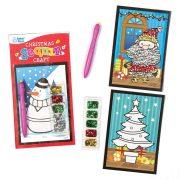 Kreatív Hobby - Készletek - Karácsonyi flitteres képkészítő