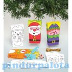 Kreatív Hobby - Készletek - Baker Ross Karácsonyi Ajándék doboz készítő szett