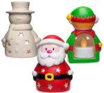 Kreatív hobby - Készletek, dekorációk - Karácsonyi figura mécsestartó kerámiából, Baker Ross