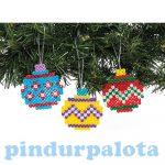 Kreatív hobby készletek - Baker Ross - Karácsonyi gömb függődísz vasalható gyöngyökből