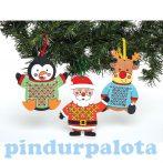Kreatív hobby - Készletek - Baker Ross - Karácsonyi keresztszemöltéses pulóver szett