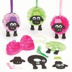 Kreatív hobby - Készletek - Pom-pom-dekorációs szett, bárányos