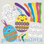 Kreatív hobby - Készletek - Húsvéti tojás hímző szett