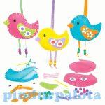 Kreatív hobby - Készletek - Színes madarak varró szett