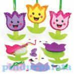 Kreatív hobby - Készletek - Mosolygós tulipán varró szett Baker Ross