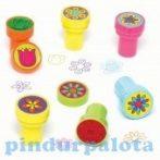 Kreatív Hobby - Készletek - Virágmintás színes pecsétek Baker Ross