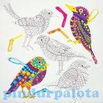 Kreatív hobby - Készletek - Madaras színező