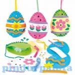 Kreatív Hobby - Készletek - Baker Ross Húsvéti tojás varró szett