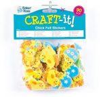 Kreatív Hobby - Készletek - Húsvéti csibés filc matrica csomag Baker Ross