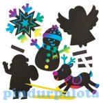 Kreatív hobby - Készletek, dekorációk - Karácsonyi mágneses képkarcolók, Baker Ross