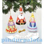 Kreatív hobby - Készletek - Baker Ross - Karácsonyi Színezd ki tölcsér díszek