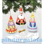 Kreatív hobby készletek - Baker Ross - Karácsonyi Színezd ki tölcsér díszek