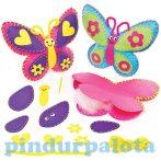 Kreatív hobby - Készletek - Pillangós díszpárnakészítő szett