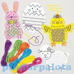 Kreatív hobby - Készletek - Húsvéti keresztszemöltéses szett