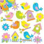 Kreatív hobby - Készletek - Tavaszi madaras habszivacs matrica