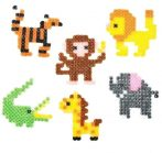 Kreatív hobby - Készletek - Dzsungel állatai vasalható gyöngyszett
