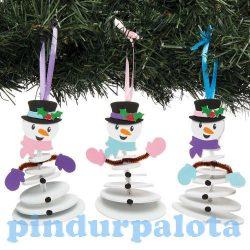Kreatív Hobby kellékek - Dekorációs alapanyagok - Karácsonyi dekorációs szett 6 db-os - Hóember Bake