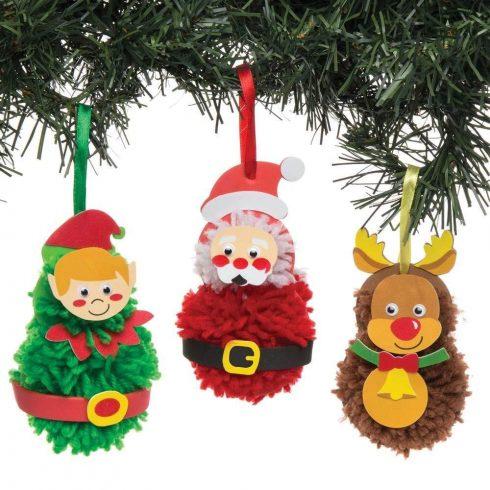 Kreatív Hobby kellékek - Dekorációs alapanyagok - Karácsonyi pom pom dekorációs szett 3 db-os Baker