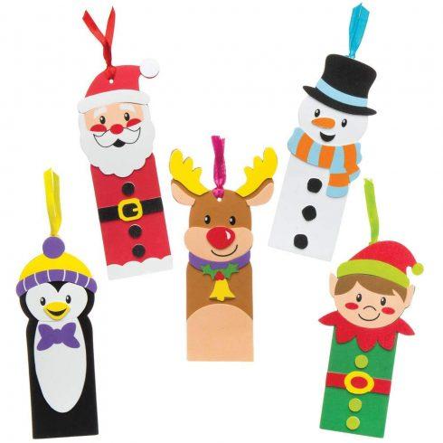 Kreatív hobby készletek a gyermeki kreativitás kibontakozásához - Karácsonyi könyvjelző készítő szet