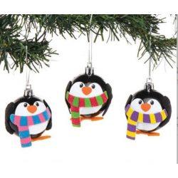 Kreatív hobby készletek a gyermeki kreativitás kibontakozásához - Pingvin karácsonyi függődísz készí