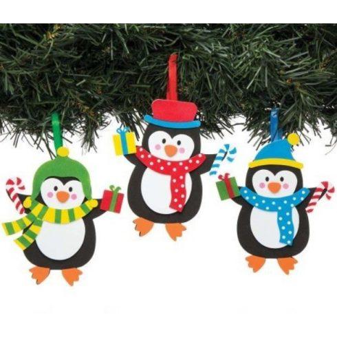 Kreatív Hobby kellékek - Dekorációs alapanyagok - Karácsonyi dekorációs szett 6 db-os - Pingvin Bake
