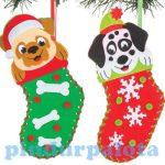 Karácsonyi kölykök zokni varrókészlet Baker Ross